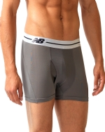 New Balance Performance 3'' Inseam Sport Trunk- Grey/White