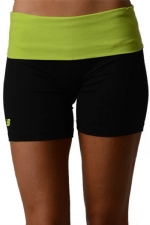 New Balance Fold Over Shorts - Black/Lime