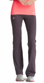 New Balance Fold Over Lounge Pants - Grey/Diva Pink