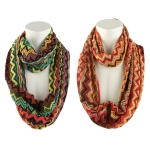 Chevron Infinity Multi Stripe Loop Scarf