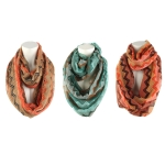 Chevron Infinity Vertical Loop Scarf