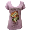 Ed Hardy Womens Specialty True Love Scoop Tee Shirt - Lilac