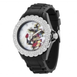 Ed Hardy Dulcet Rocker Swarovski Cross  Watch - Black