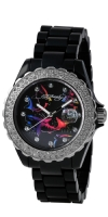 Ed Hardy Roxxy Swarovski Crystal Accent Watch - Black