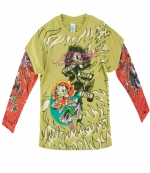 Ed Hardy Kids Long SleeveT-Shirt - Lime