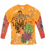 Ed Hardy Kids Long Sleeve T-Shirt - Orange