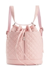 Steve Madden Bfluttr Quilted Convertible Drawstring Crossbody/Backpack - Blush