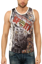 Ed Hardy Mens Panther Sport Tank Top - Black