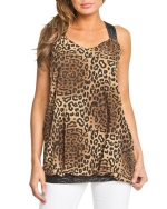 Style NY Women's Animal Print Dress - Brown
