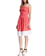 Style NY Women's Double Breasted Button Heidi Dress - Pink