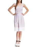 Style NY Women's Double Breasted Button Heidi Dress - Purple