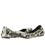 Tory Burch Eddie Patent Leather Leopard Flats Shoe - Snow Multi