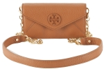 Tory Burch Stacked Envelope Crossbody Clutch-Luggage