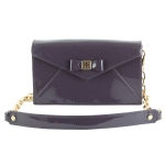 Tory Burch Bow Envelope Crossbody Clutch-Violet