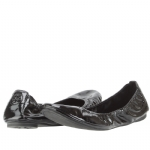 Tory Burch Eddie Patent Leather Flats Shoe - Black