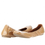 Tory Burch Eddie Patent Leather Flats Shoe - Tan