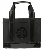 Tory Burch Nylon Mini Tory Tote-Black