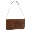 Tory Burch Bombe Reva Clutch Bag- Chocolate