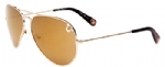 True Religion Jeff Aviator Sunglasses - Gold