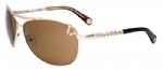 True Religion Montana Aviator Sunglasses - Satin Gold