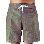 Trunks Men's Salty Board Short - Aqua Triangles