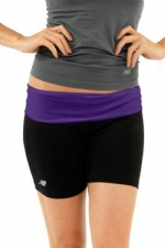 New Balance Fold Over Shorts - Black/Purple