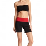New Balance Fold Over Shorts - Black/Red