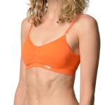 New Balance T Shirt Bra - Golden Poppy