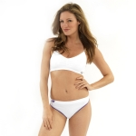 New Balance T Shirt Bra - White