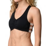 New Balance V-Neck Day Bra - Black/White
