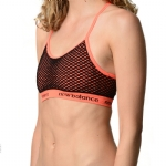 New Balance Cami Polka Dot Pattern Bra - Fiery Red
