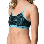 New Balance Cami Polka Dot Pattern Bra - Neon Blue