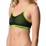 New Balance Cami Polka Dot Pattern Bra - Green/Tender Shots