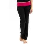 New Balance Fold Over Lounge Pants - Black/Bright Rose
