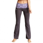 New Balance Floral Print Fold Over Lounge Pants - Grey/Purple