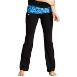 New Balance Floral Print Fold Over Lounge Pants - Black/Blue