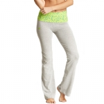 New Balance Mum Print Fold Over Lounge Pants - Light Grey/Lime