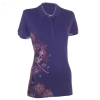 Ed Hardy Womens Beautiful Ghost Rhinestone Embroidered Polo - Purple