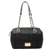 Juicy Couture Nylon Rouched Steffy Handbag-Black