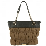 Juicy Couture Nylon Rouched Tote -Brown