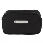 Juicy Couture Double Zip Cosmetic Case -Black