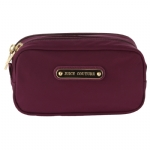 Juicy Couture Double Zip Cosmetic Case -Purple