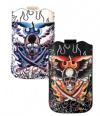 Ed Hardy iPhone Flaming Skull Sleeve With Full Tab Case