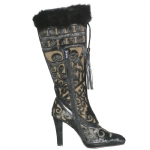 Cochni Tall Dress Boots for Women - Black