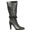 Cochni Leather Tall Dress Boots for Women - Black