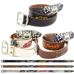 Ed Hardy EH1428 Mens Drag Race Leather Belt