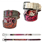 Ed Hardy EH3291 Roses Garden-Kids Girls-Leather Belt