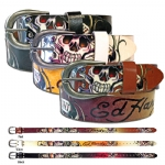 Ed Hardy EH3298 Hearts on Fire -Kids Girls-Leather Belt