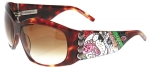 Ed Hardy EHS-006 Love Dog Sunglasses - Tortoise/Brown