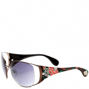 Ed Hardy Mum Lola Sunglasses- Black - The Ed Hardy Mum Lola Sunglasses-Black is a beautiful fashionable sunglasses designed by Ed Hardy and marketed by Christian Audigier. The Ed Hardy designer sunglasses features Flower graphics on temples with Ed Hardy logo detail.